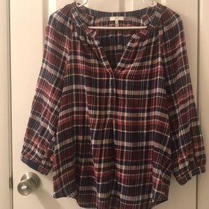 5/$25 joie long sleeve plaid shirt size Me…